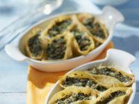 Muschelnudeln mit Spinatfüllung Rezept