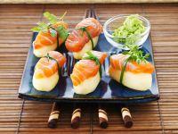 Nigiri mit Kartoffel und Lachs Rezept