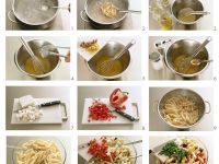 Nudel-Gemüse-Salat mit Feta Rezept