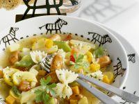 Nudel-Gemüse-Topf mit kleinen Würstchen Rezept