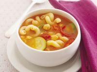 Nudel-Tomaten-Suppe mit Kichererbsen Rezept