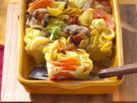 Nudelauflauf mit Pilzen, Speck und Gemüse Rezept