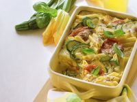 Nudelauflauf mit Zucchini und Tomaten Rezept