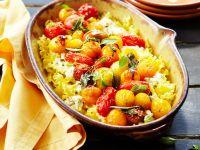 Nudelgratin mit Frischkäse und Tomaten Rezept