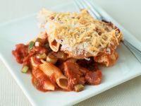 Nudelgratin mit Tomaten und Schinken Rezept