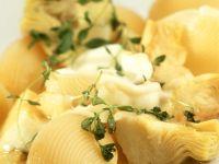 Nudeln mit Artischocken und Mozzarella Rezept