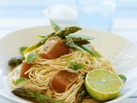 Nudeln mit gebratenem Thunfisch Rezept