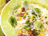 Nudeln mit Gemüse und Sahnesauce Rezept
