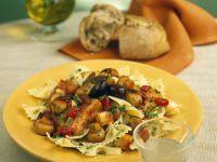Nudeln mit mediterranem Gemüseragout Rezept