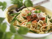 Nudeln mit Tomaten und Bohnen Rezept