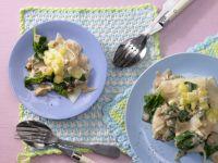 Nudeln mit Spinat und Käse Rezept