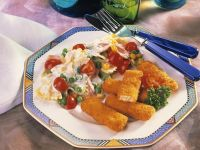Nudelsalat mit Chicken Nuggets Rezept