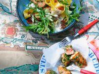 Nudelsalat mit Kräuter-Lachs