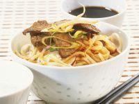 Nudelsalat mit Rindfleischstreifen Rezept