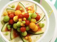 Obstsalat aus verschiedenen Melonen Rezept