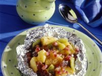 Obstsalat in Folie gebacken Rezept