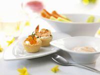 Österliche Häppchen mit Kaviar und Shrimps Rezept