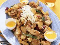 Ofengebackene Hähnchenbrust mit Kartoffeln Rezept