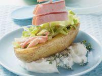 Ofenkartoffel mit Schinken und Frühlingsquark Rezept