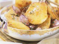 Ofenkartoffel mit Thymian und Knoblauch Rezept