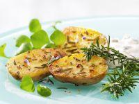 Ofenkartoffeln mit Gorgonzolaquark Rezept