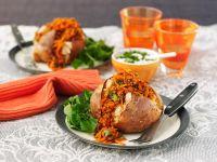 Ofenkartoffeln mit Hackfüllung Rezept