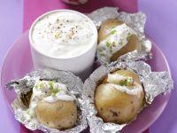 Ofenkartoffeln mit Knoblauchsoße