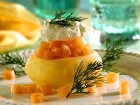 Ofenkartoffeln mit Lachsfüllung Rezept