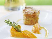 Ofenschlupfer mit Aprikosenrosmarin-Kompott Rezept
