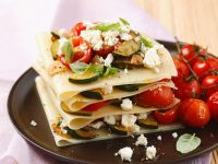 Offene Lasagne mit Gemüse und Schafskäse Rezept