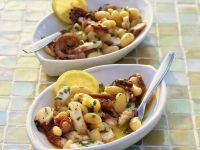 Oktopussalat mit weißen Bohnen Rezept