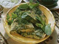 Omelett auf arabische Art mit Kräutern und Joghurtsoße Rezept