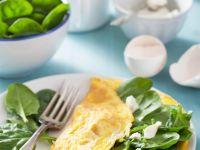 Omelett mit Babyspinat und Ziegenfrischkäse Rezept