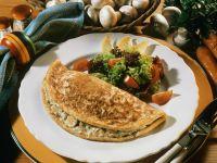 Omelett mit Champignons gefüllt