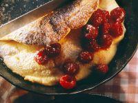 Omelett mit Himbeeren Rezept