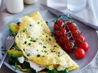 Omelett mit Spinat-Avocadofüllung Rezept