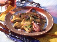 Omelette mit Krabben und Frühlingszwiebeln Rezept