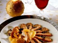 Orangen-Ente mit Pilzen Rezept