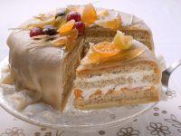 Orangen-Marzipan-Torte mit kandiertem Obst Rezept