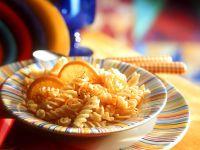 Orangen-Nudeln