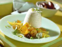 Orangen-Pistazien-Creme mit marinierten Datteln Rezept