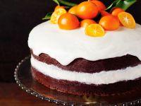 Orangen-Sahnetorte mit Zuckerglasur Rezept