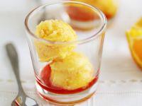 Orangen-Sorbet mit Campari Rezept