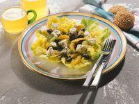 Orangen-Traubensalat mit Blauschimmelkäse