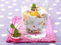 Orangencreme mit Quark und Joghurt