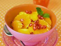 Orangensalat mit Granatapfel Rezept
