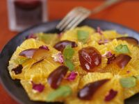 Orangenscheiben mit Datteln Rezept