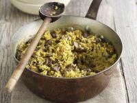 Orientalische Reispfanne (Pilaf) mit Lammfleisch Rezept