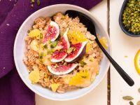 Orientalisches Porridge mit Orangen und Feigen Rezept