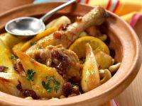 Orientalisches Zitronen-Hähnchen mit Birnen Rezept